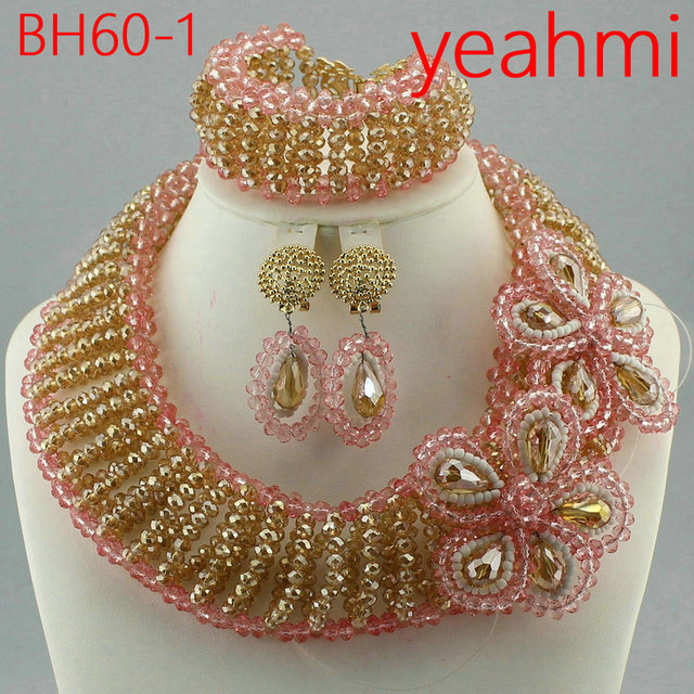 Fantastic Nigerian Wedding Coral Beads Jewelry Set Original Coral Bead Necklace Set Traditional Wedding African Jewelry BH60-2