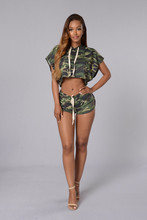 2016 Vestidos New Fashion Jumpsuits Women Sexy Camouflage Jumpsuit Clubwear Bodycon Bandage Bodysuit Bodywear hoodies Jumpsuits