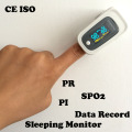 CE ISO PI ODI Anti-movement Pulse Oximeter SPO2 PR Blood Oxygen Monitor Beep&Visual and Sound Alarm Sleep Measure Solid Waveform