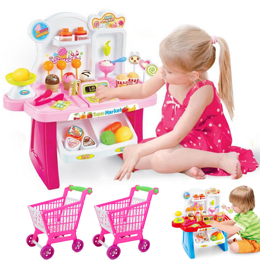 Cute Kids Simulation Supermarket Cash Register Miniature Hou