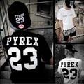 Pyrex 23 Т Рубашки Купе Майка для Любителей Harajuku Приток Мужчины Женщины Pyrex Видения Одежда Хип-Хоп GD Bigbang Грязно-Белый Pyrex
