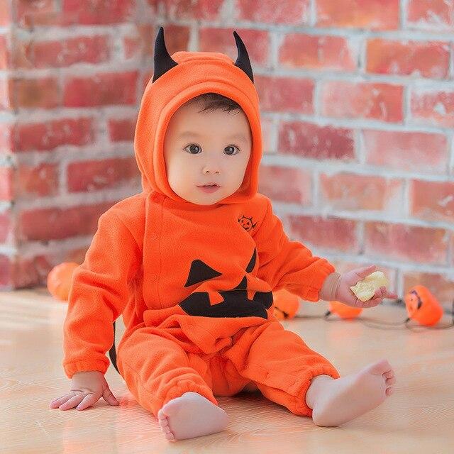 Halloween Bebe disfraz bebe halloween 2018 winter overalls infant pumpkin hooded