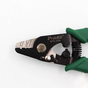 Image 2 - Proskit 8PK 326 szczypce do ściągania izolacji światłowodowej 8PK 326 tri hole ściągacz światłowodowy 8PK 326 FTTH włókno szklane striptizerka 1 szt.