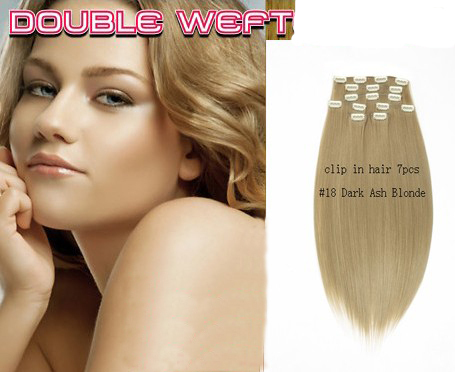 Super Sale Crazy Color Blonde Cheap Clip On Synthetic Hair