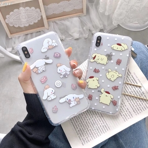 Korea INS Cute Cinnamoroll My Melody Phone Case For iPhone X XS Max Xr 8 7 6 6s Plus Japan Anime Cartoon Clear Candy TPU Cover(China)