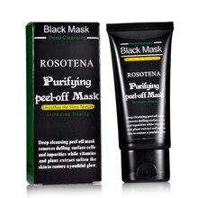 ROSOTENA Face Care Deep Peel Off Black Head Mud Black Mask Deep Cleansing Blackhead And Pimple