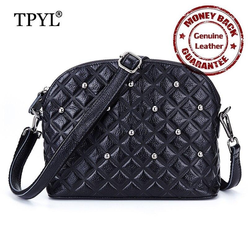 ФОТО 2016 New Arrivals Luxury Brand Designer Cowhide Genuine Leather Small Diamond Lattice Women Messenger Bags with Fashion Rivet