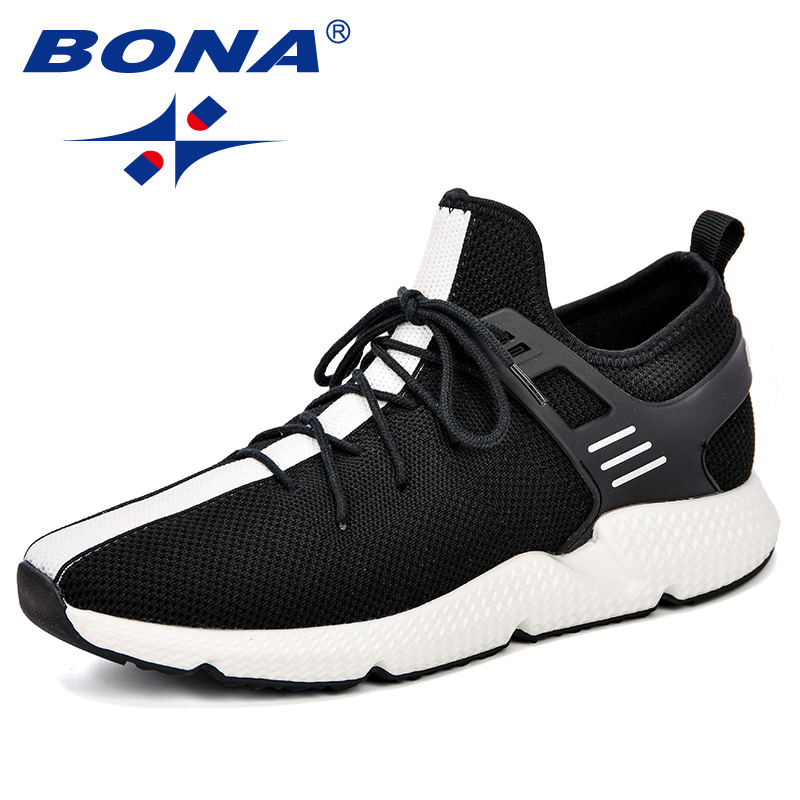 $32.06 BONA New Design  Men Running Shoes Elastic Band Athletic Trainers Zapatillas Sports Shoes  Breathable Outdoor Walking Sneakers