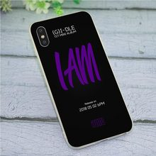 (G) i-DLE K Pop Telefone Capa para iPhone 5 Caso XR X 7 8 Plus 6 5S SE 6S Xs max Shell(China)