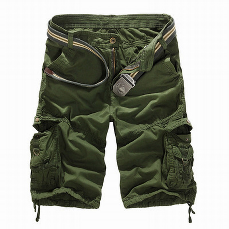 SHUJIN New 2020 Men Cargo Shorts Casual Loose Short Pants Camouflage Military Summer Style Knee Length Plus Size 8 Colors Short