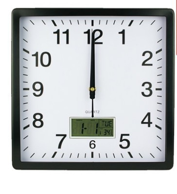 M38 Modern Radio Conrtrolled Movement Square Shape Wall Clock With
