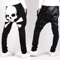 Sexy Skull Printing Men's Harem Pants Baggy Casual Trousers Punk Fashion Dance Hip Hop Sweatpants