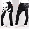 Sexy Skull Printing Men's Harem Pants Baggy Casual Trousers Punk Fashion Dance Hip Hop Sweatpants
