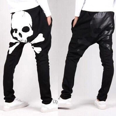 இSexy impresión cráneo hombres Pantalones harem baggy casual ...