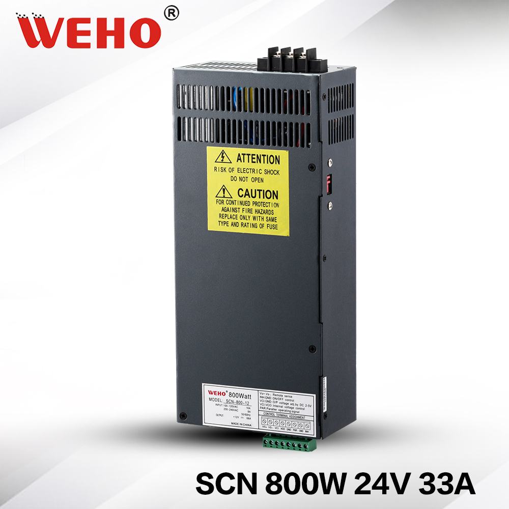 (SCN-800-24) stable DC voltage source 800w 24v AC DC switching power supply 800w 24v with PFC function limit switches scn 1633sc