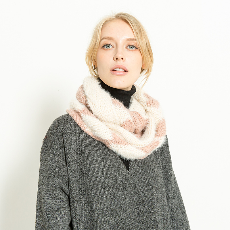 New Fashion Mohair Winter Scarf For Women High Quality Warm Big Long Scarf Female Luxury Plaid Cashmere Thick Scarves
