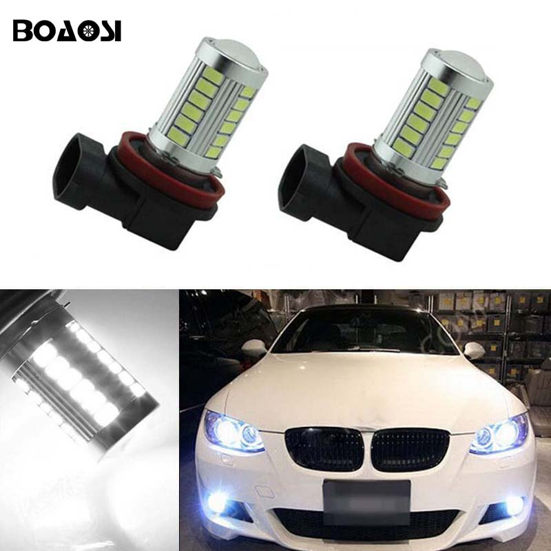 BOAOSI 2x 9006 HB4 Car LED Lights Bulb Auto Fog Light Lamps For BMW E63 E64 E46 330ci boaosi 2x car led 9006 hb4 2835 66smd light bulb auto fog light driving lamp light for subaru wrx vs sti 2008 2013