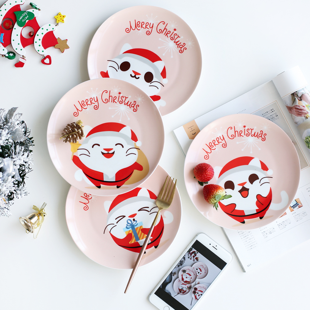 Merry Christmas Letters Gifts Cute Cat Printed Ceramic 8