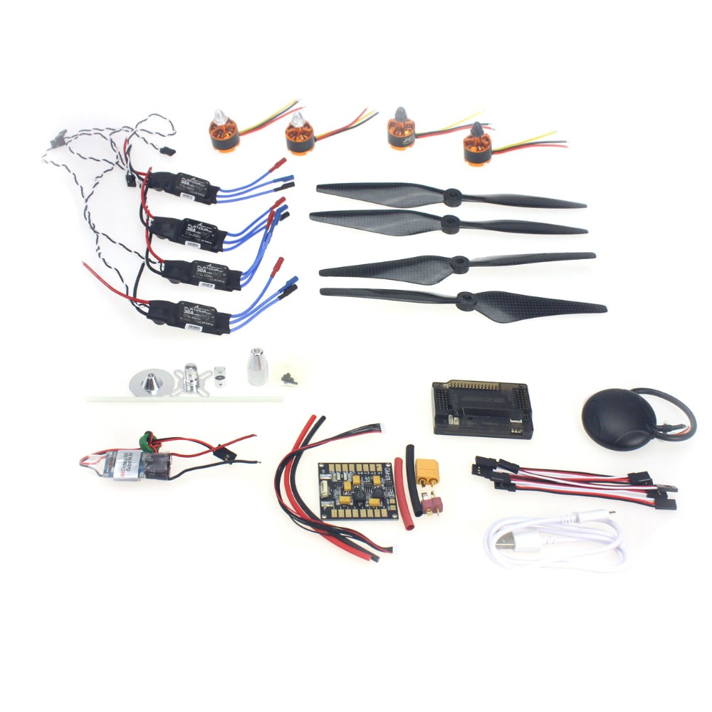 30A ESC BEC 920KV Brushless Motor Carbon Firber Propeller GPS APM2.8 Flight Control for 4-axis DIY GPS Drone 30a esc bec 920kv brushless motor carbon firber propeller gps apm2 8 flight control for 4 axis diy gps drone