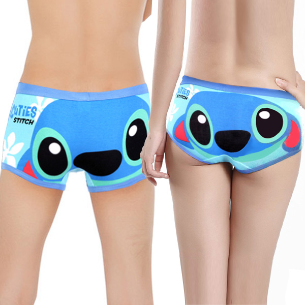 Free shipping High quality 100% cotton cartoon the Lilo & Stitch lover underwear