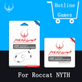 1 sets/pack hotline games ratón pies para roccat mousepad mouseskate nyth 0.6mm nivel de rendimiento para juegos + gratis pinzas