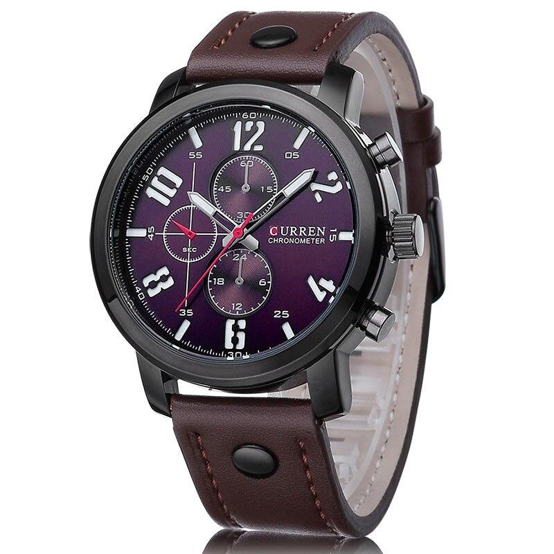 CURREN Casual Heren Horloges Topmerk Luxe Lederen Mannen Militaire - Herenhorloges - Foto 6