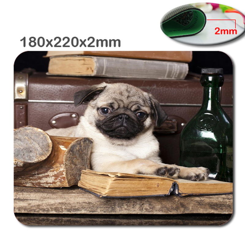 Professional Hot Fast Printing DIY New High Quality Custom Made Dog, Pug Silicone Gaming Mouse Pad Optical Mouse Pad 180X220X2MM