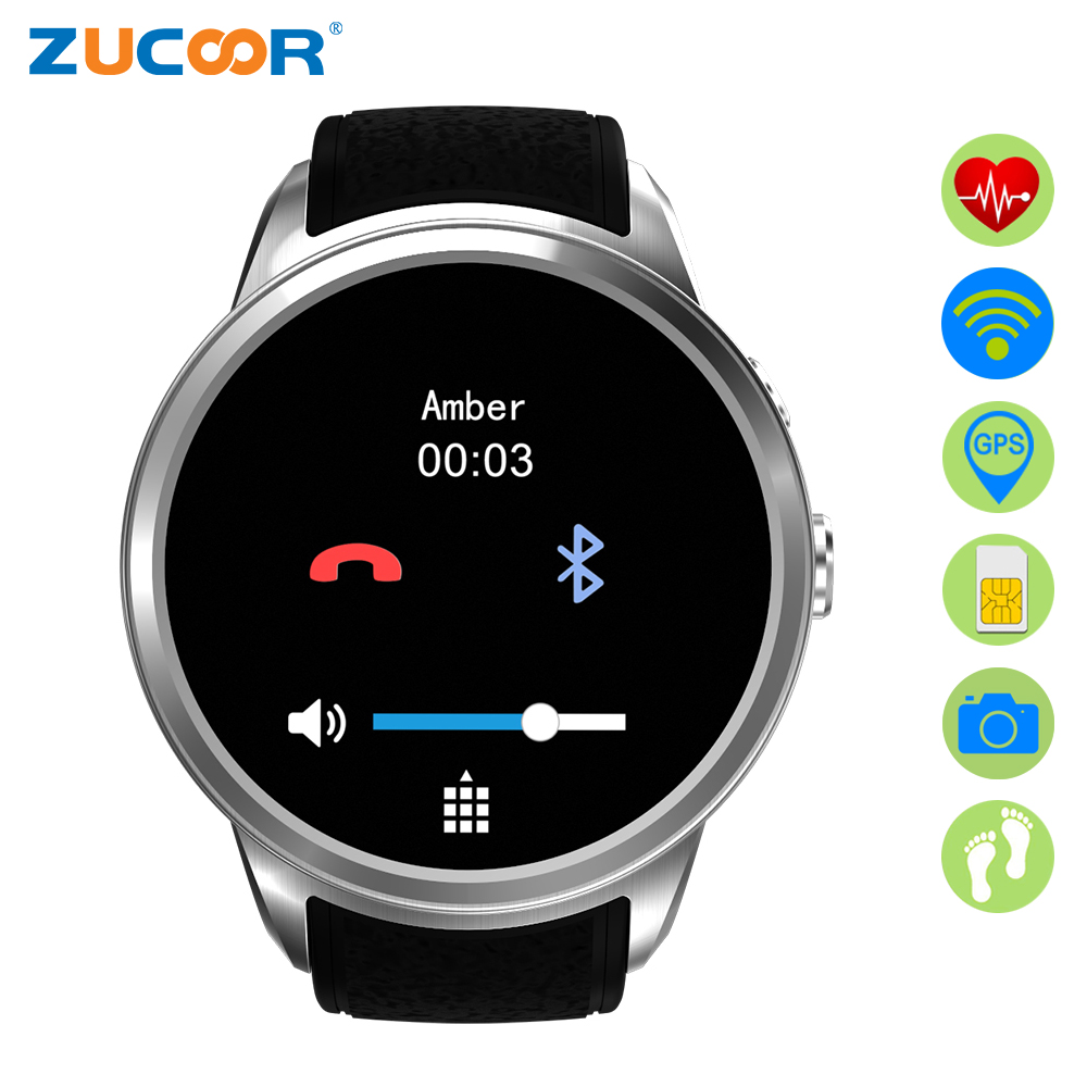 ZUCOOR Smart Watch Relogio Heart Rate Watches RW23 Smartwatch Pedometer Health Men's Android Orologio Mobile Phone Touch Phones f2 smart watch accurate heart rate