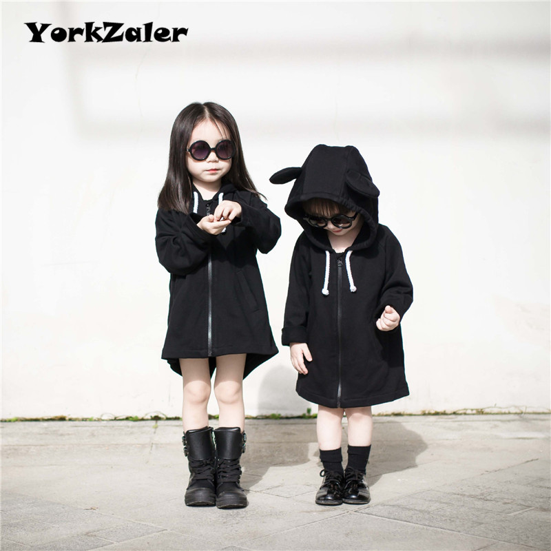 YorkZaler осень детская одежда для маленьких мальчиков и девочек с капюшоном с длинным Стиль пальто куртка длинный рукав Верхняя одежда для дев...