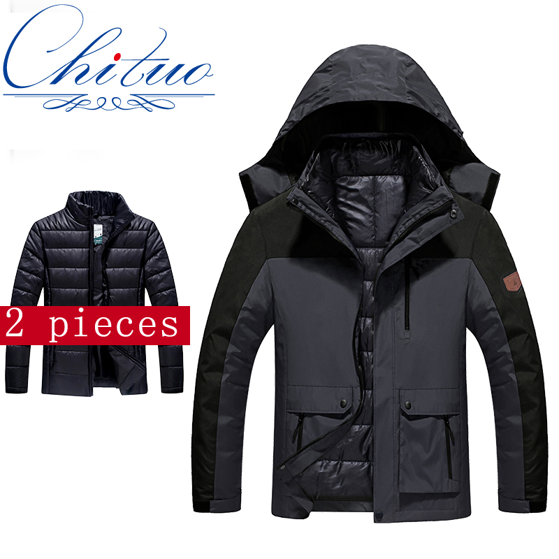 2016 winter New male FemalejacketPlus thick velvet Warm coat jacket 2 in 1Casual jacket size M