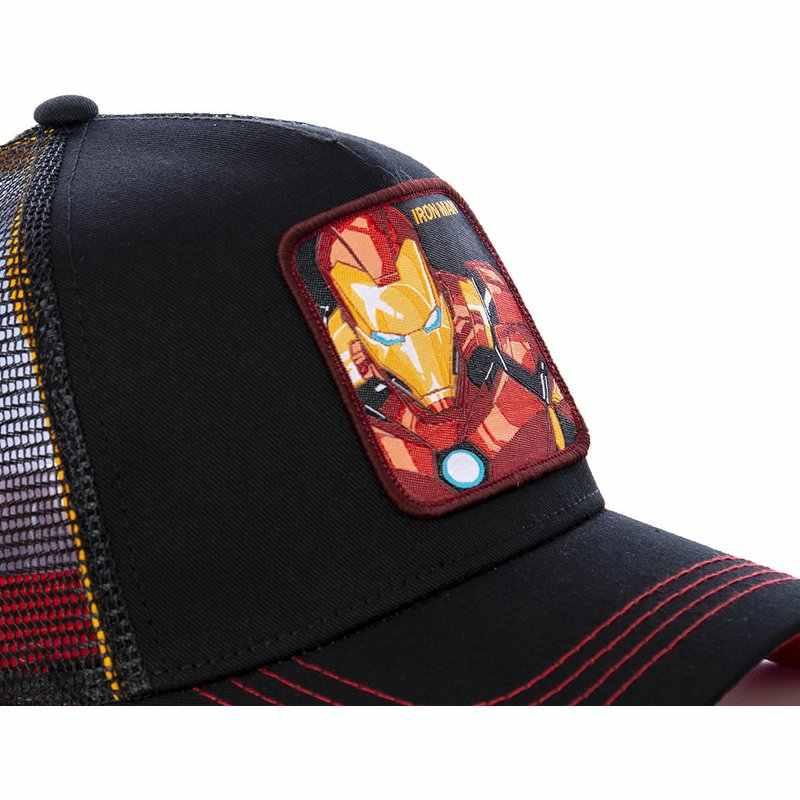 Yeni Marvel Süper Kahraman DEMIR ADAM Şapka 2019 Sıcak Snapback Kap pamuklu beyzbol şapkası Erkekler Kadınlar Için Hip Hop Baba Şapka Kamyon Şoförü örgü şapka
