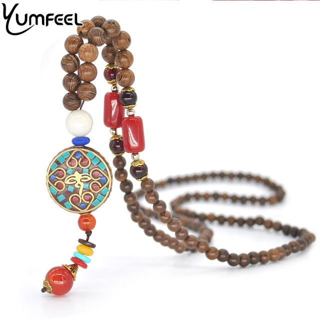 Yumfeel religious jewelry nepalese handmade round pendants long yumfeel religious jewelry nepalese handmade round pendants long necklace women ethnic vintage gifts audiocablefo
