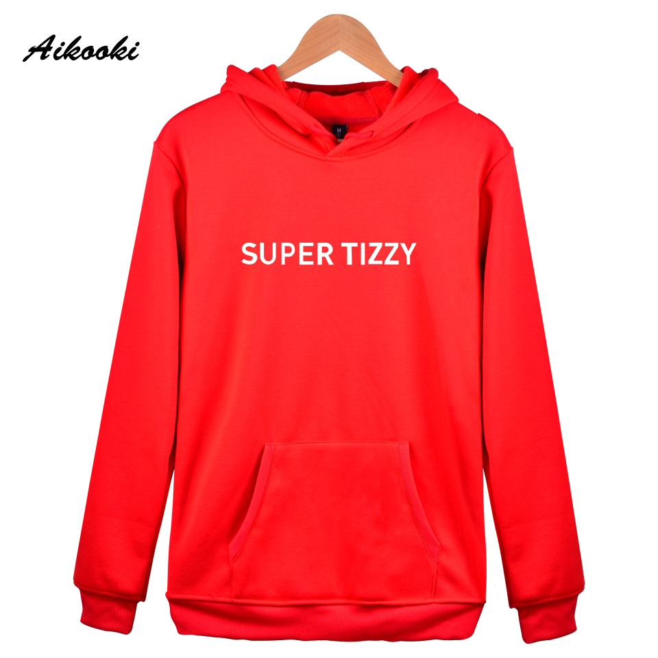 Aikooki SUPER TIZZY Hoodies New fashion Brand Designer Mens Sweatshirt Printed Male Hoodies And Sweatshirts Women Hooded Clothes