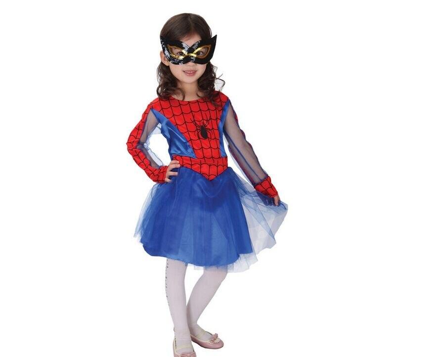 spider girl costume halloween costume for kids fancy costume for girls kids anime cosplay dress performance - Spider Girl Halloween Costumes