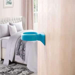 Image 2 - באיכות גבוהה קריקטורה מברשת שיניים אחסון מתלה קיר רכוב כוס בחדר מקלחת קולב כוס משחת שיניים אחסון מתלה בעל קיר Moun