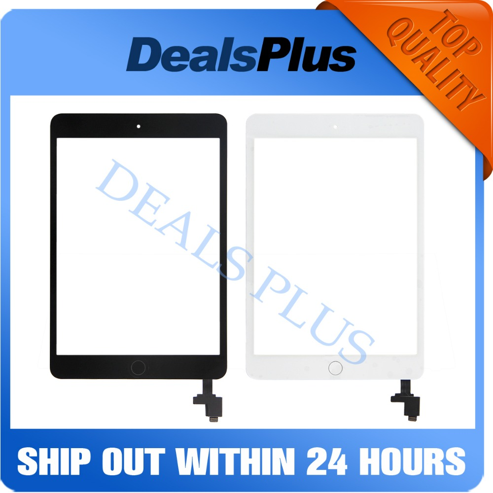 Replacement New Touch Screen Digitizer with IC+Home Button+Flex Cable For iPad Mini <font><b>1</b></font> A1432 A1454 A1455 Mini <font><b>2</b></font> A1489 A1490 A1491 image