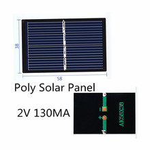 Poly Solar Panel 2V 130MA for Mini solar panel charging and generating electricity 58*38MM