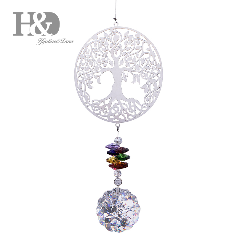 H&D Crystal Suncatcher Rainbow Maker, Tree Of Life