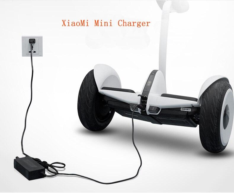Prix pour Chargeur pour xiaomi pour non, 9 mini deux roues auto équilibre scooter/Monocycle Accessoires d'entrée 100-240 V sortie 63 v/70 w