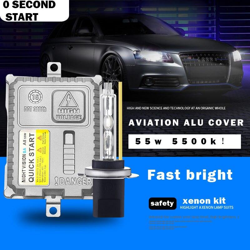 Dianshi 5500 k rapide brillant CACHÉ H1 H3 H7 H8 H9 H11 9005 9006 HB3 HB4 9012 automatique de lumière au xénon