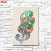 Large Art Therr Color Symbol Restaurant Study Bedroom Decor Wall Oil Painting Print Nice Wall Picture