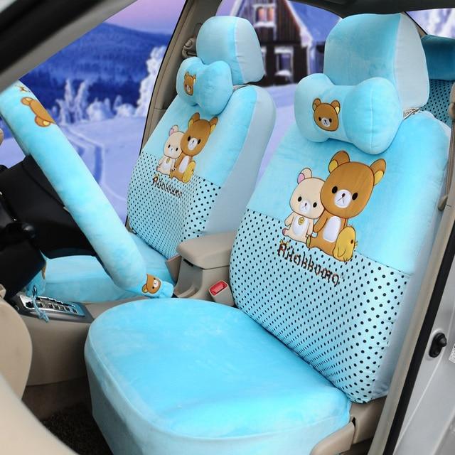 Hello Kitty Soft Plush 18pcs Exquisite Car Seat Cushion Light Blue Custom Covers Clic