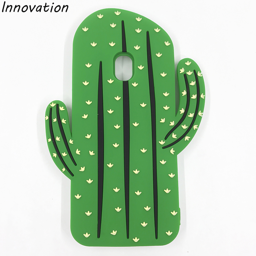 Innovation J530 J5 (2017) Phone Case Fandas Coque New Funny 3D Cactus Silicone Capa For Samsung Galaxy J5 2017 Soft Back Cover ...