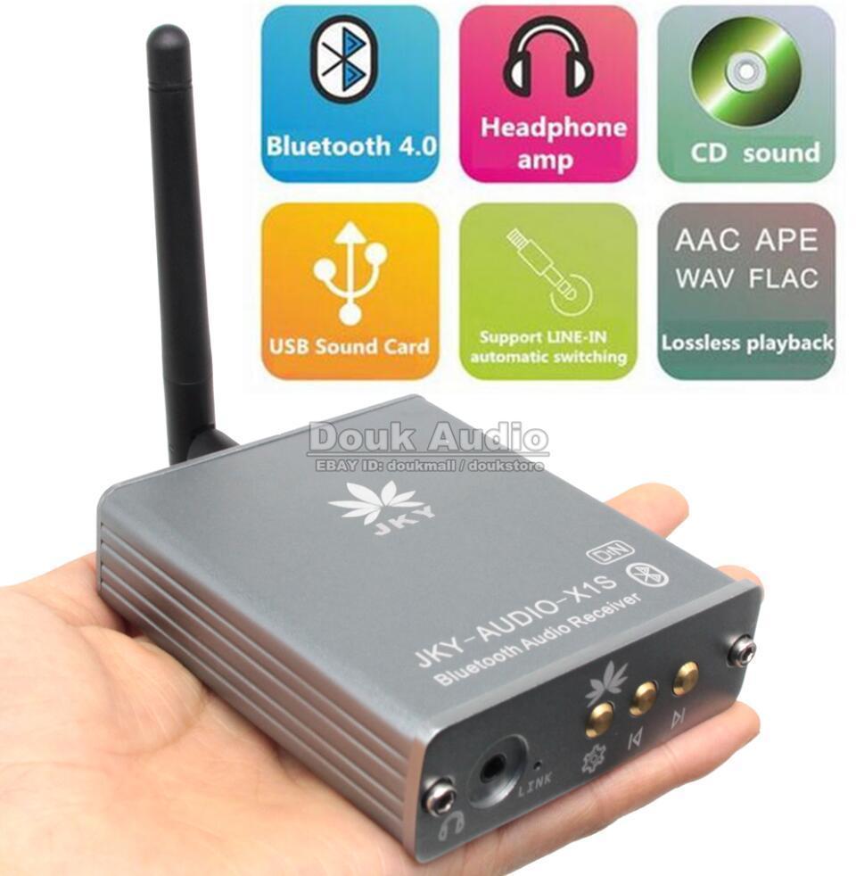 цена на 2018 New Nobsound Bluetooth 4.0 DSP DAC Apt-x Audio Decoder Receiver Headphone amp USB Sound Card Apt-x