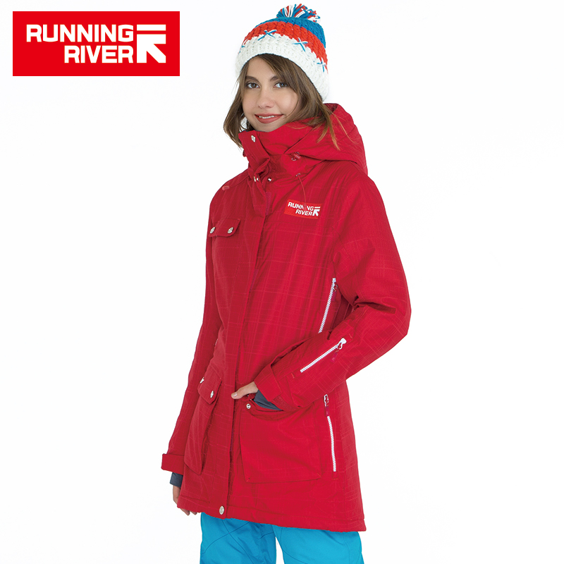 RUNNING RIVER Brand Women Snowboarding Jacket High Quality Winter Warm Sports Clothing 4 Colors 4 Sizes Outdoor Jackets #A5023