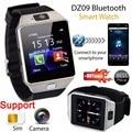 Funique dz09 relógio bluetooth smart watch para ios android telefone inteligente digital smartwatch esportes tf suporte para câmera cartão sim