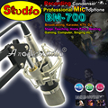 BM700 Studio Recording Condenser Microphone Professional Karaoke Mic Mike For PC Broadcasting Music Create With Metal ShockMount
