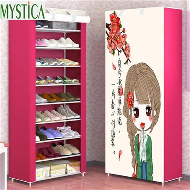 2018 NEW Home Simple Large Capacity Storage Shoe Rack Dustproof Multilayer  Shoe Shelf Cloth Shoe Organizer