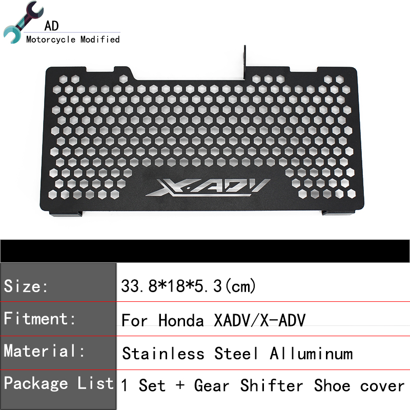 2018 New Radiator Guard Grille Cover Grill Covers Stainless Steel Cooler Protector For Honda XADV X-ADV Motorcycle Accessories ! for yamaha xjr 1300 xjr1300 1998 2008 99 00 01 02 03 04 05 06 07 motorcycle oil cooler protector grille guard cover