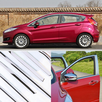 A Set  Window Pillars Window Sill Molding Trim Exactly Fitted For Ford Fiesta Hatchback